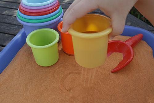 Safari Sand Orange Coloured Sand for Children