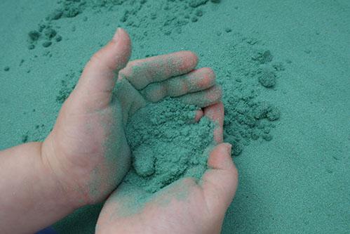 Safari Sand Green Coloured Sand for Children