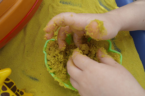 Safari Sand Yellow Coloured Sand for Children