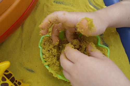 Safari Sand Yellow Coloured Sand for Children